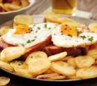 Bratkartoffeln mit Leberkäse & Spiegelei