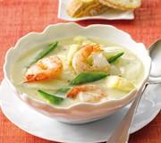 Garnelen-Spargel-Suppe