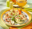 Gefüllte Kohlrabi mit Sesam-Kartoffelpüree