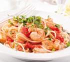 Curry-Senfnudeln mit Garnelen